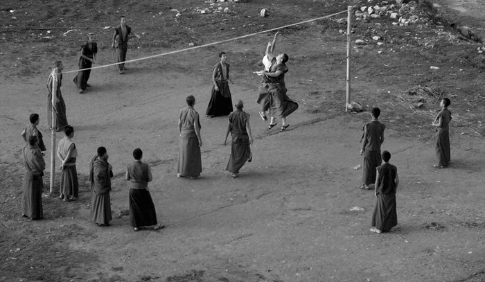 Buddhist Monks playing Volleyball - Story by KreedOn.com